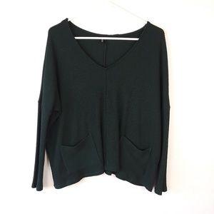 BDG Forest Green V-neck Sweater